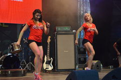 Coca cola happy moves event, Bucharest Stock Photo