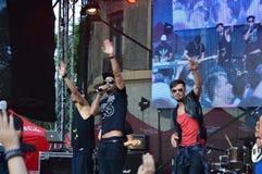 Coca cola happy moves event Stock Photo