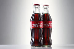 Coca cola. Kuala Lumpur, Malaysia 23th May 2016, Coca-Cola Classic in a glass bottle Isolated on white Background. Coca Cola, Coke is the most popular carbonated Royalty Free Stock Photography
