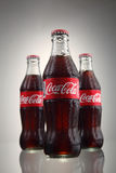 Coca cola. Kuala Lumpur, Malaysia 23th May 2016, Coca-Cola Classic in a glass bottle Isolated on white Background. Coca Cola, Coke is the most popular carbonated Royalty Free Stock Images