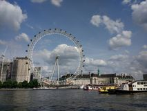London Eye wheel stock image