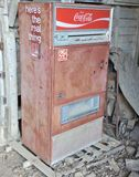 Coca Cola Machine Antique Royalty Free Stock Photos