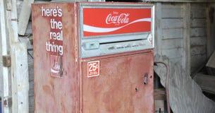 Coca Cola Machine Antique Close-Up Stock Photography