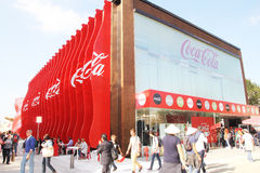 Coca-cola pavilion Stock Photo
