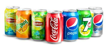 Coca. Cola pepsi background closeup isolated pepper Royalty Free Stock Photos