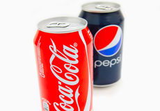 Coca-Cola and Pepsi Royalty Free Stock Photos