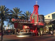 Coca-Cola Refreshment Stand, Universal City Walk, Orlando, Florida. The Coca-Cola refreshment stand located at Universal City Walk in Orlando, Florida stock photography