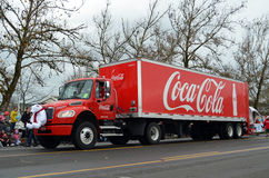 Coca Cola semi truck Stock Photos