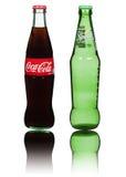 Coca Cola & Sprite bottles Stock Images