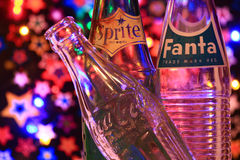 Coca Cola, Sprite and Fanta Bottles Royalty Free Stock Image