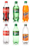Coca Cola, Sprite and Fanta Stock Photography