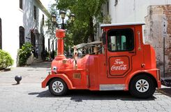 Coca Cola touristic train vehicle Royalty Free Stock Photo