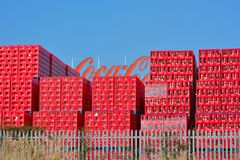Coca Cola trays, Belgian branch in Ghent Royalty Free Stock Photos
