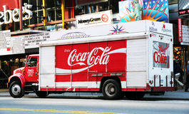 Coca Cola Truck. Parking on 42nd street Royalty Free Stock Image