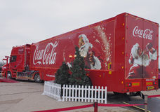 Coca-cola truck in Blackpool Royalty Free Stock Photography