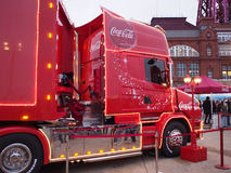 Coca-cola truck in Blackpool Stock Image
