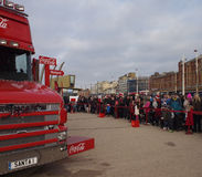 Coca-cola truck in Blackpool Stock Photography