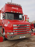Coca-cola truck in Blackpool Royalty Free Stock Image