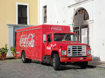 COCA COLA truck in CARTAGENA, COLOMBIA Stock Photography
