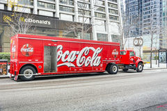 Coca cola Truck in Chicago Royalty Free Stock Images