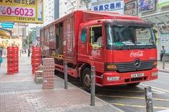 Coca Cola Truck Delivery images libres de droits