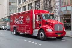 Coca Cola truck. New York, NY: Coca Cola truck in the streets of New York. USA stock photography