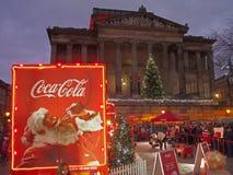 Coca-cola truck in preston Royalty Free Stock Photos