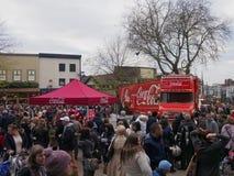 Coca-cola truck in preston Royalty Free Stock Photo