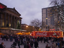 Coca-cola truck in preston Royalty Free Stock Photography
