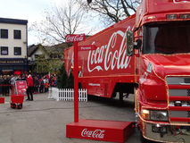 Coca-cola truck in preston Stock Photography
