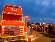 Coca cola truck Royalty Free Stock Photo