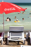 Coca Cola Umbrella On The Beach Stock Photography