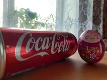 Coca-cola & uovo, divertenti, funnyman fotografia stock