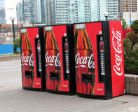 Coca Cola Vending Machine. Three red vending machine of Coca Cola and other soft drinks in Toronto ,Canada Stock Photography