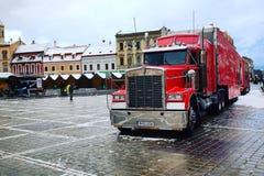 Coca-Cola-Vrachtwagen Stock Fotografie