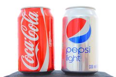 Coca-cola vs Pepsi Stock Images