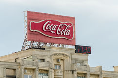 Coca-Cola-Werbung Lizenzfreie Stockfotografie
