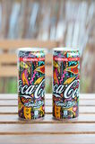 Coca Cola cans. Coca Cola Woodstock edition coke cans Stock Photography