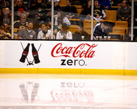 Coca-Cola Zero hockey dasher Stock Image