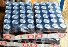 COCA COLA ZERO REFRIGERATING BEVERAGE SAMPLE Royalty Free Stock Images