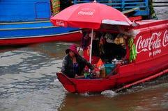 Coca- Colaboot Lizenzfreie Stockfotografie