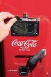 coca - colamaskin Fotografering för Bildbyråer