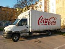 Coca - colaskåpbil Royaltyfri Foto