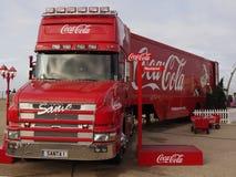 Coca-colavrachtwagen in Blackpool Stock Foto's