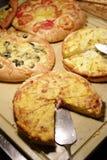 Coca de Dacsa mediterranean pizza Royalty Free Stock Images