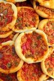 Coca de Dacsa mediterranean pizza from Spain Stock Images