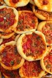 Coca de Dacsa mediterranean pizza from Spain Royalty Free Stock Images