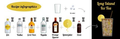 Coca de Long Island stock de ilustración
