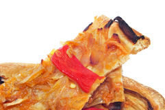 Coca de recapte, typical catalan savory cake similar to pizza Royalty Free Stock Image