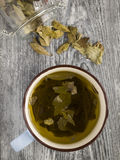 Coca. Leaf tea, a popular drink in some of the South American countries Royalty Free Stock Images